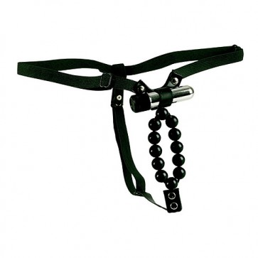 Lover Thong with Vibrating Stroker Beads