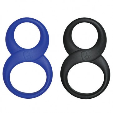 Rocks Off 8 Ball Cock and Ball Ring-black