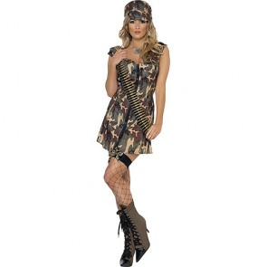 Fever Army Girl Costume-Large